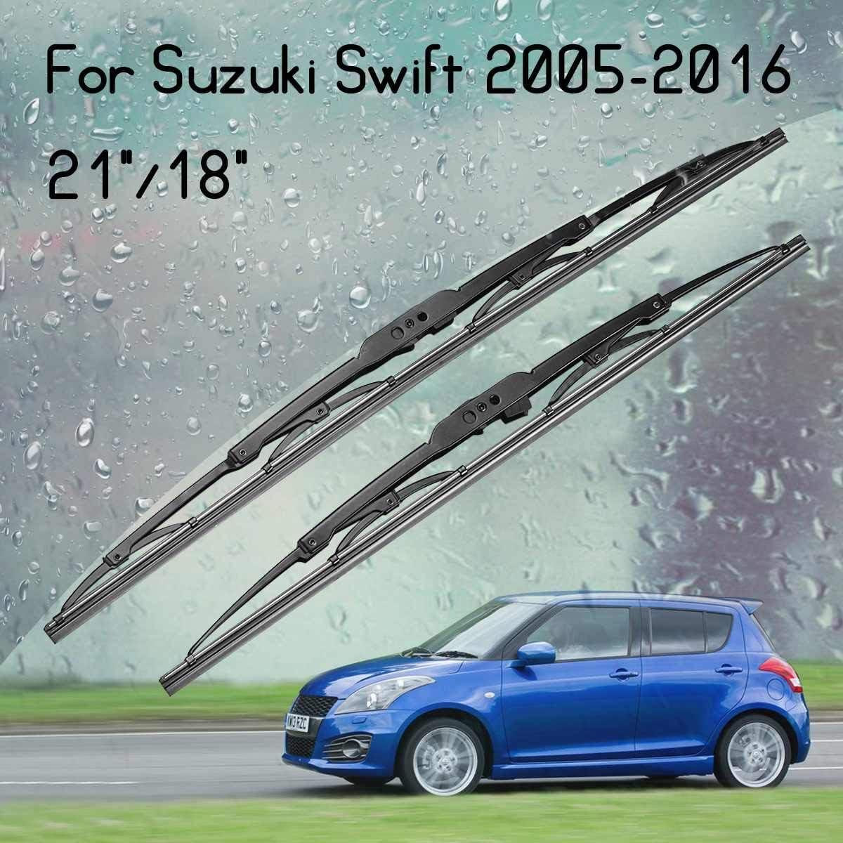 2 limpiaparabrisas delanteros estándar para Suzuki Swift 2005-2016 ...