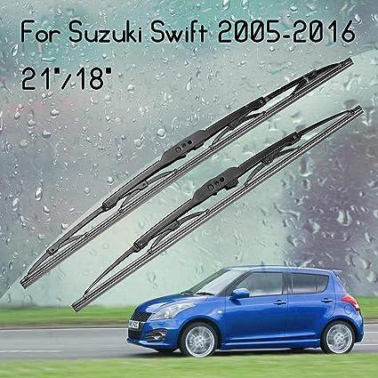 2 limpiaparabrisas delanteros estándar para Suzuki Swift 2005-2016 de 53 cm y 46 cm