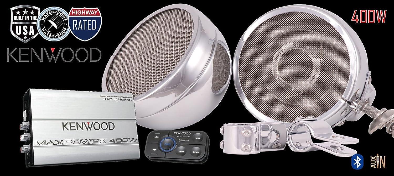 Kenwood Cruiser Motorcycle Radio and Bluetooth Speaker