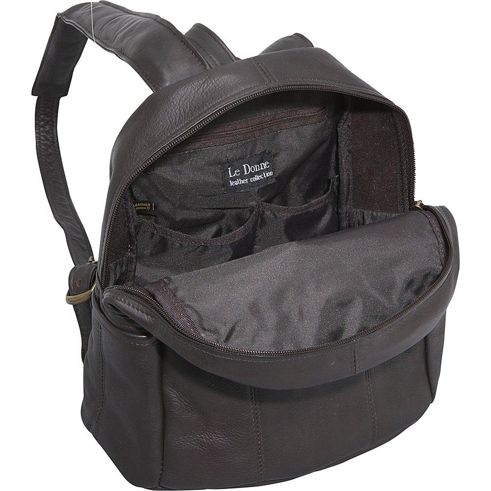 6d918e8783 Amazon.com  Le Donne Leather Quick Slip Womens Backpack (Black)  Shoes