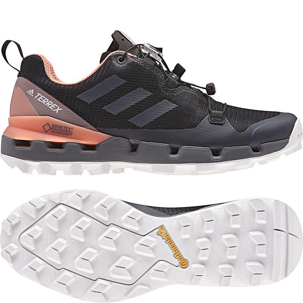 adidas outdoor Terrex Fast GTX Surround Hiking Shoe - Women's B072Y3X9XL 8.5 M US|Black, Grey Five, Chalk Coral