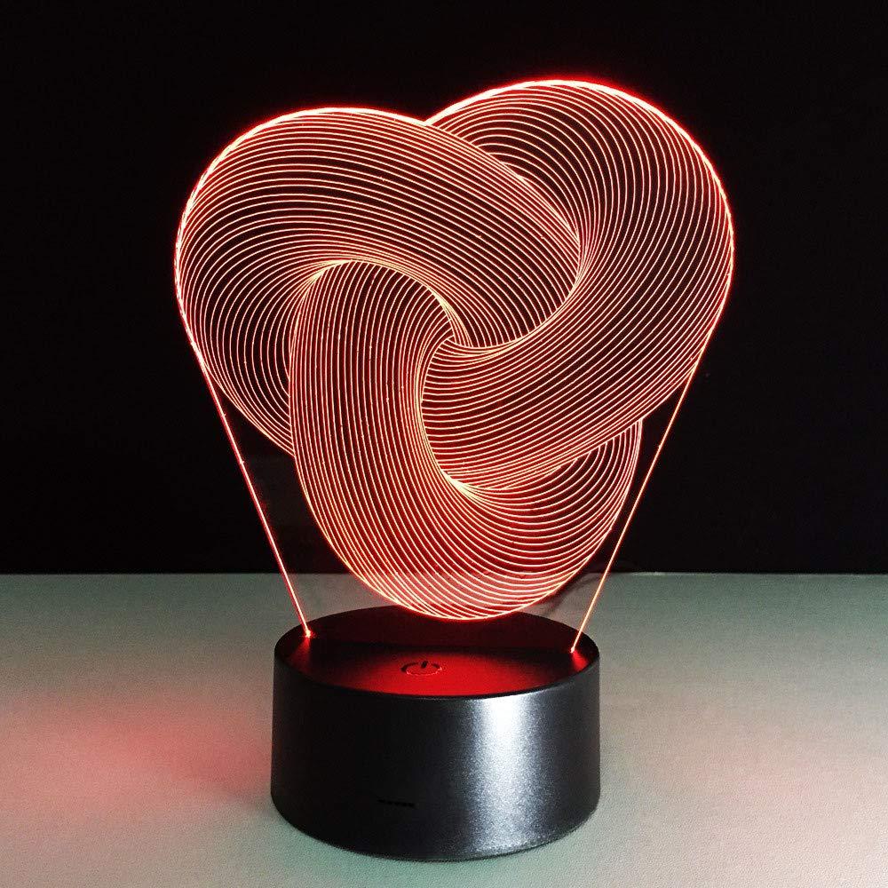 Abstraktes Bild 3d Tischlampe Baby Nachtlicht Novel Nachttischlampe Lampe Mini Nightlights Batteriebetriebene Lampen Veilleuse Enfant Lampy