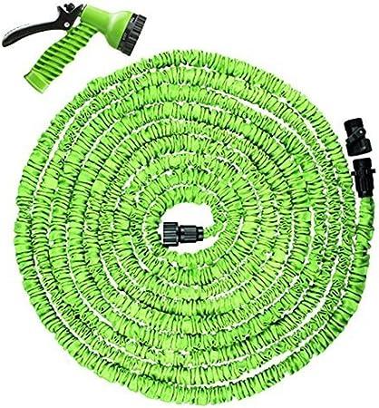 Manguera de jardín retráctil Rhybom Manguera de riego retráctil de 30M 100 pies 7 en 1 Manguera de jardín flexible y extensible: Amazon.es: Electrónica