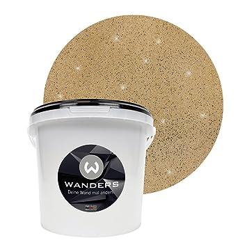 Wanders24 Glimmer Optik (3 Liter, Gold Sand) Glitzer Wandfarbe In