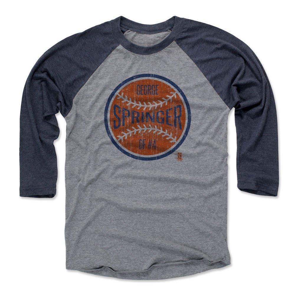 500レベルのジョージスプリンガー3 /第4野球Tシャツ – Houston野球ファンギアの公式ライセンスMLB Players Association – ジョージSpringerボールO X-Large ネイビー/ヘザーグレー B01NAFCPG6