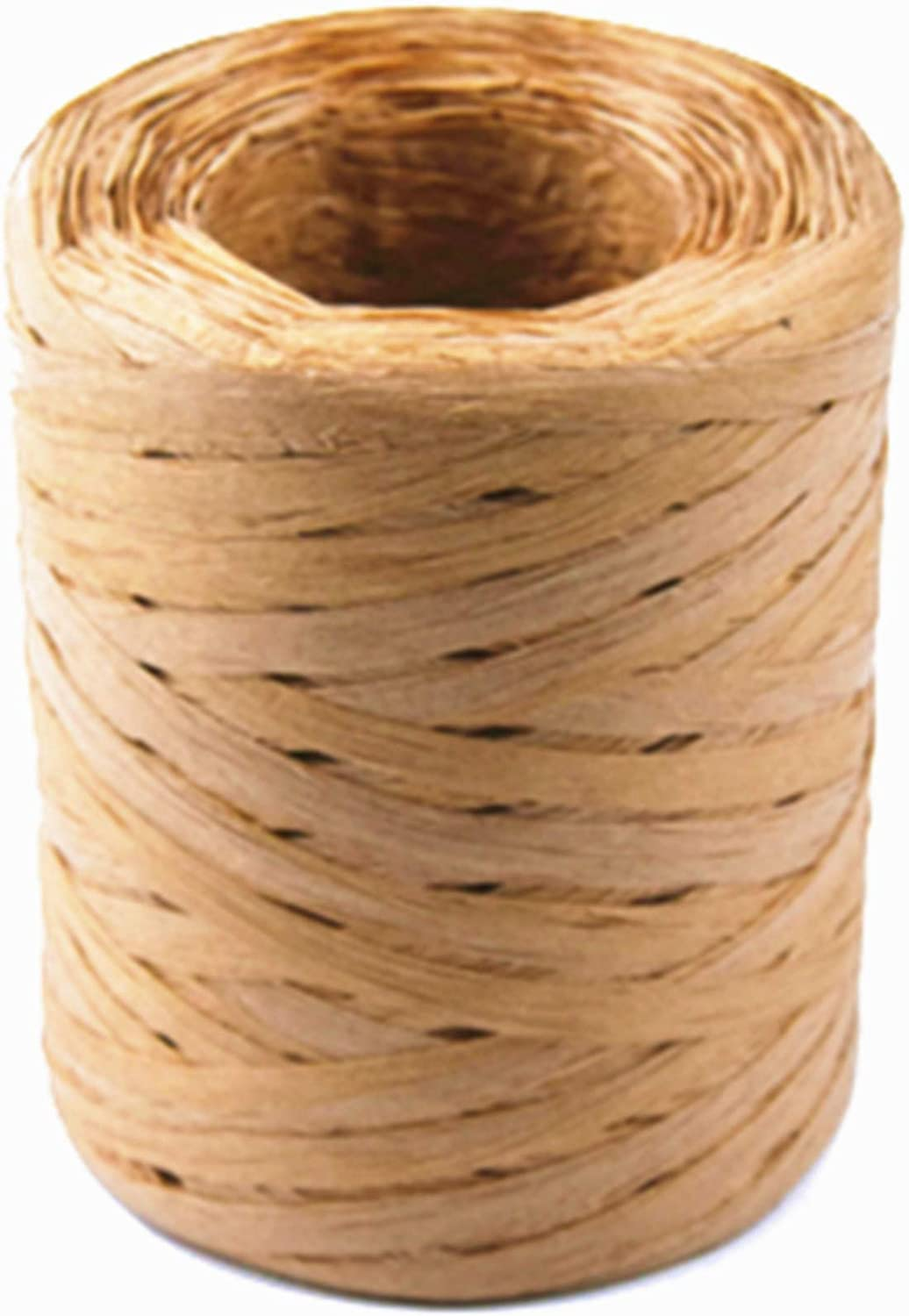 Creatrill 218Yards Christmas Raffia Paper Craft Ribbon Packing Paper Twine for Festival Gifts, DIY Decoration and Weaving