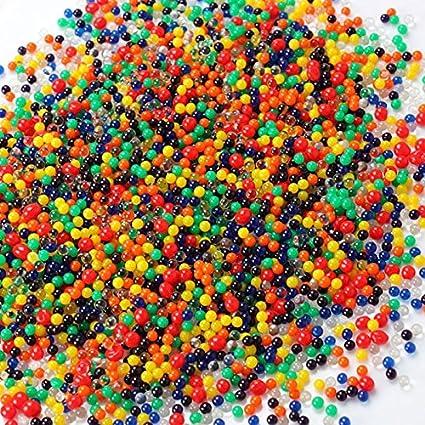 LianLe - Juego de 1200 Perlas de Agua de Gel para decoración de jarrones, Cristal, H: Colorido