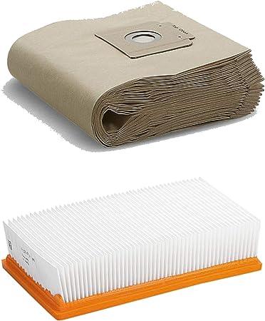 Lot de 5 filtres pour aspirateur avec filtre /à lamelles pour aspirateur K/ärcher NT 35//1 ONE NT 360 comme 6.904-210.0 /& 6.904-367.0
