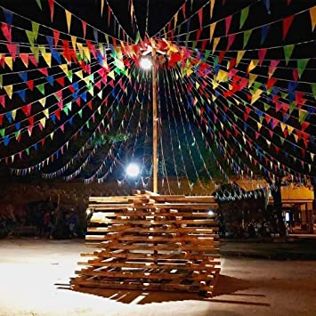 EDATOFLY 240M Bandera banderín 450 Banderas banderines de Nailon Guirnalda de triángulo Decoraciones Banderas para Boda cumpleaños Fiesta al Aire Libre jardín: Amazon.es: Juguetes y juegos