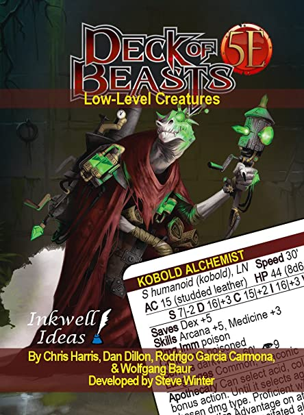 Inkwell Ideas Deck of Beasts: Low-Level Creatures