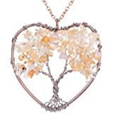 Sedmart Handmade Nature Abalone Shells Tree of Life Pendant Necklace for Women