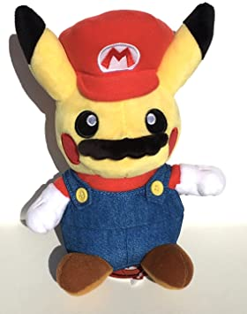 Pokemon Center Peluche Original Pikachu Super Mario [Importación Japón]