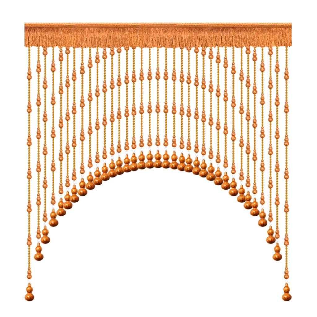 Bead curtain Home Décor Mahogany Hoist Curtain Wooden Living Room Partition Curtain Bedroom Porch Hanging Curtain Bathroom Arc Arched Curtain Curtain Panels by Bead curtain