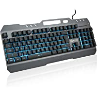 KLIM™ Lightning - New - Semi-Mécanique QWERTY Hybrid Keyboard Gamer Video Games Gaming Keyboard PC PS4 + 5-Year Warranty…