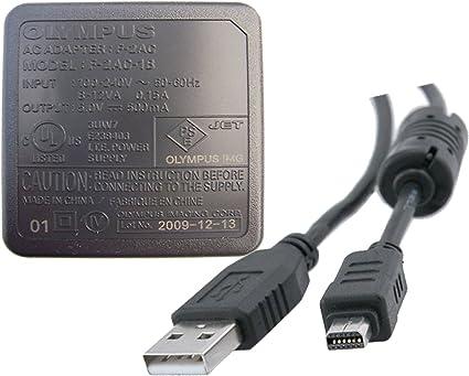 USB Datos Sincronización Cable Cable Para Cámara Olympus Stylus TG-630 IHS DC Batería Cargador