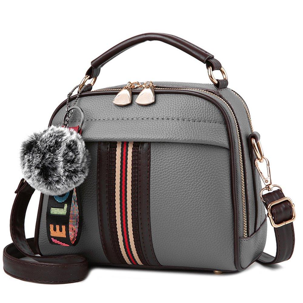 Tibes Ladies Top-handle Handbags Shoulder Bag Satchel Crossbody Bags Women A Grey