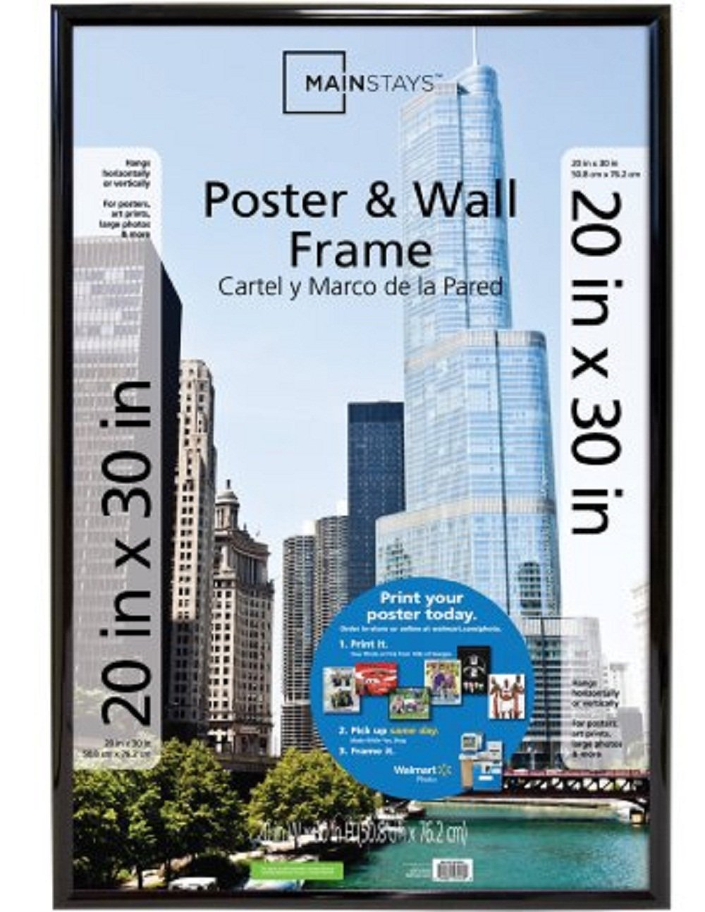 Amazon mainstays 20x30 trendsetter poster picture frame amazon mainstays 20x30 trendsetter poster picture frame black jeuxipadfo Choice Image