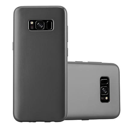 7becccd2844967 Cadorabo Coque pour Samsung Galaxy S8 en Metallic Gris – Housse Protection  Souple en Silicone TPU