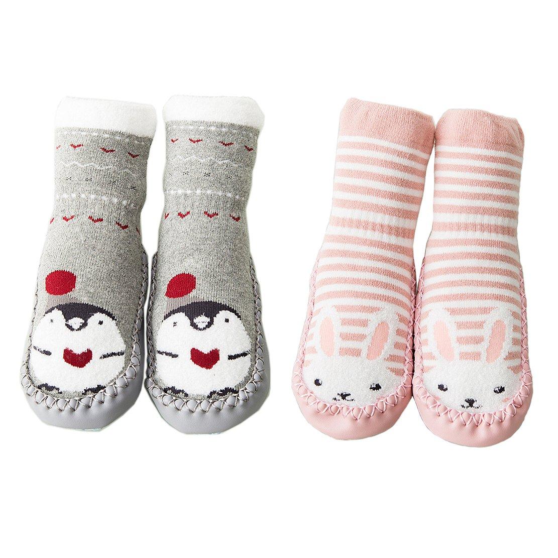 ef6feed36 Calcetines para Bebés Niña Niño Anti Deslizante Zapatillas Primera Infancia  Ampliar imagen