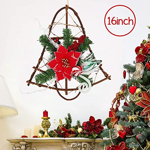 Amazon Com 16inch Christmas Grapevine Wreath Hanger For Front