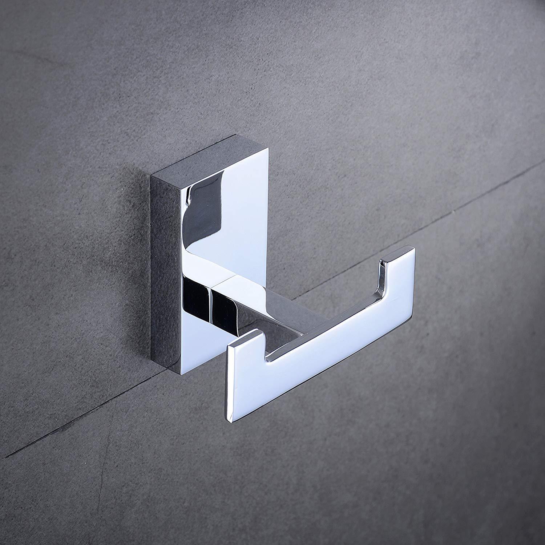 Solid Brass Towel Bar Holder Bath Hardware Accessory Set Chrome Finish Home Built Bathroom Accessories Set 4-Piece