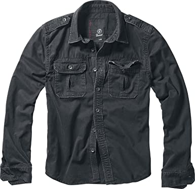 Brandit Vintage Shirt Hemd schwarz
