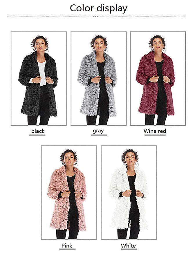 Chaqueta de Mujer otoño e Invierno Blusa de Mujer Color sólido Temperamento Salvaje de Manga Larga cálido Abrigo de Felpa: Amazon.es: Ropa y accesorios