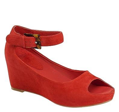 c6a577e74c0cc Johnston & Murphy Women's Tricia Ankle Strap Wedge Sandal