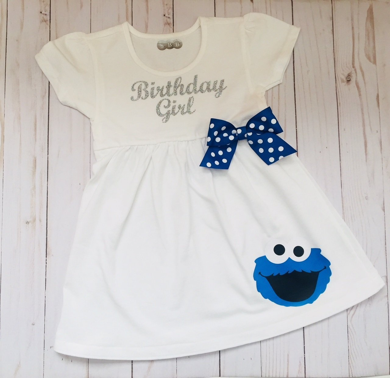 Cookie Monster Birthday Dress outfit for girls clothing