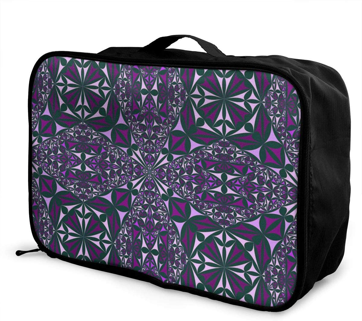 Yunshm Kaleidoscope Repeat Mirror Decoration Elegant Personalized Trolley Handbag Waterproof Unisex Large Capacity For Business Travel Storage