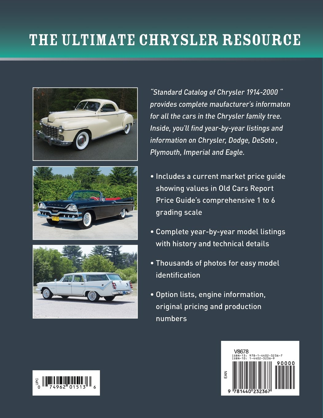 Standard Catalog of Chrysler, 1914-2000: History, Photos, Technical ...