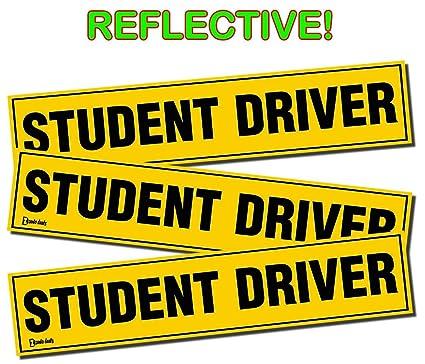 amazon com zento deals set of 3 student driver magnets