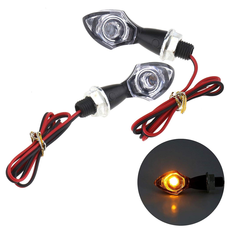 ENET 1 par de Intermitentes de Motocicleta LED Indicadores de Flecha E-Marked Universal 12 V Luces de Repuesto para Moto