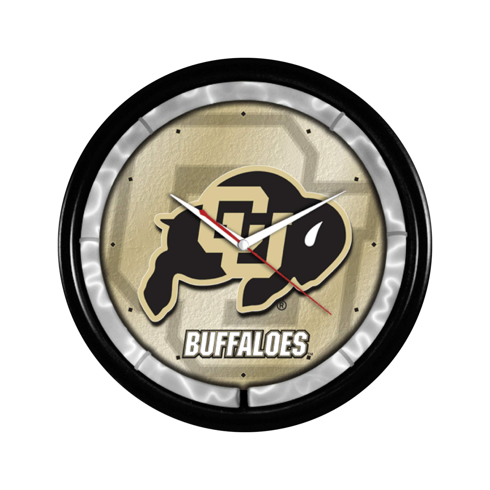 NCAA College Team Plasma Clock (Colorado Buffaloes) by Authentic Street Signs