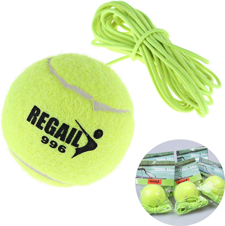 Schneespitze 5Pcs Tenis Trainer,Cuerda de Goma de Alta Elasticidad Tenis de Entrenamiento Accesorio Tenis Principiante para Entrenamiento de Tenis,Verde