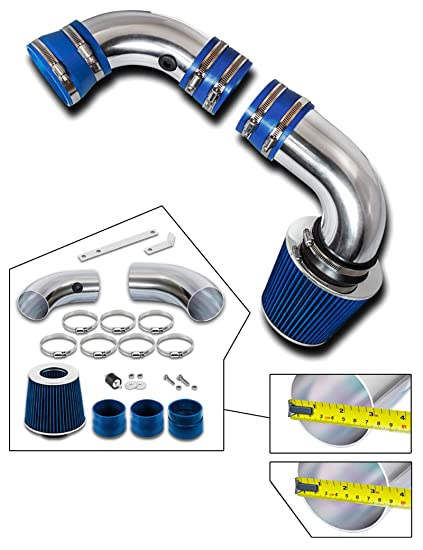 Blue Cold Air Intake Kit For 1996-2004 Chevy S10 4.3 V6 Pickup Cold Air Intake