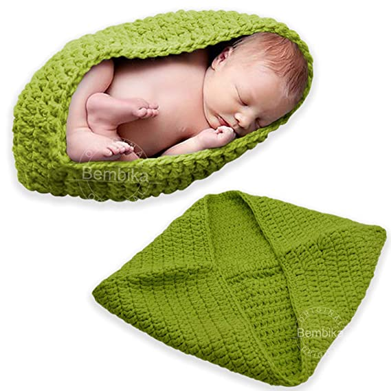f078ad98e Bembika Newborn Lovely Knitted Chunky Cocoon Nest Baby Pod Bowl Photography  Prop Cute Babies Sleeping Bags