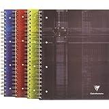 Clairefontaine 8212C - Cuaderno de tapa dura con espirales BIND´O BLOCK A4, cuadriculado 5x5 con margen de 160 páginas, 1 pc de colores surtidos