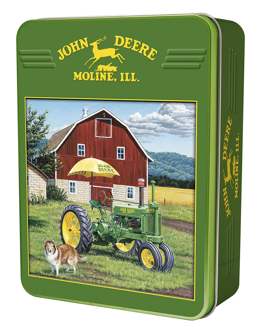 MasterPieces John Deere My Two Best Friends - Model A Tractor 1000 Piece Tin Box
