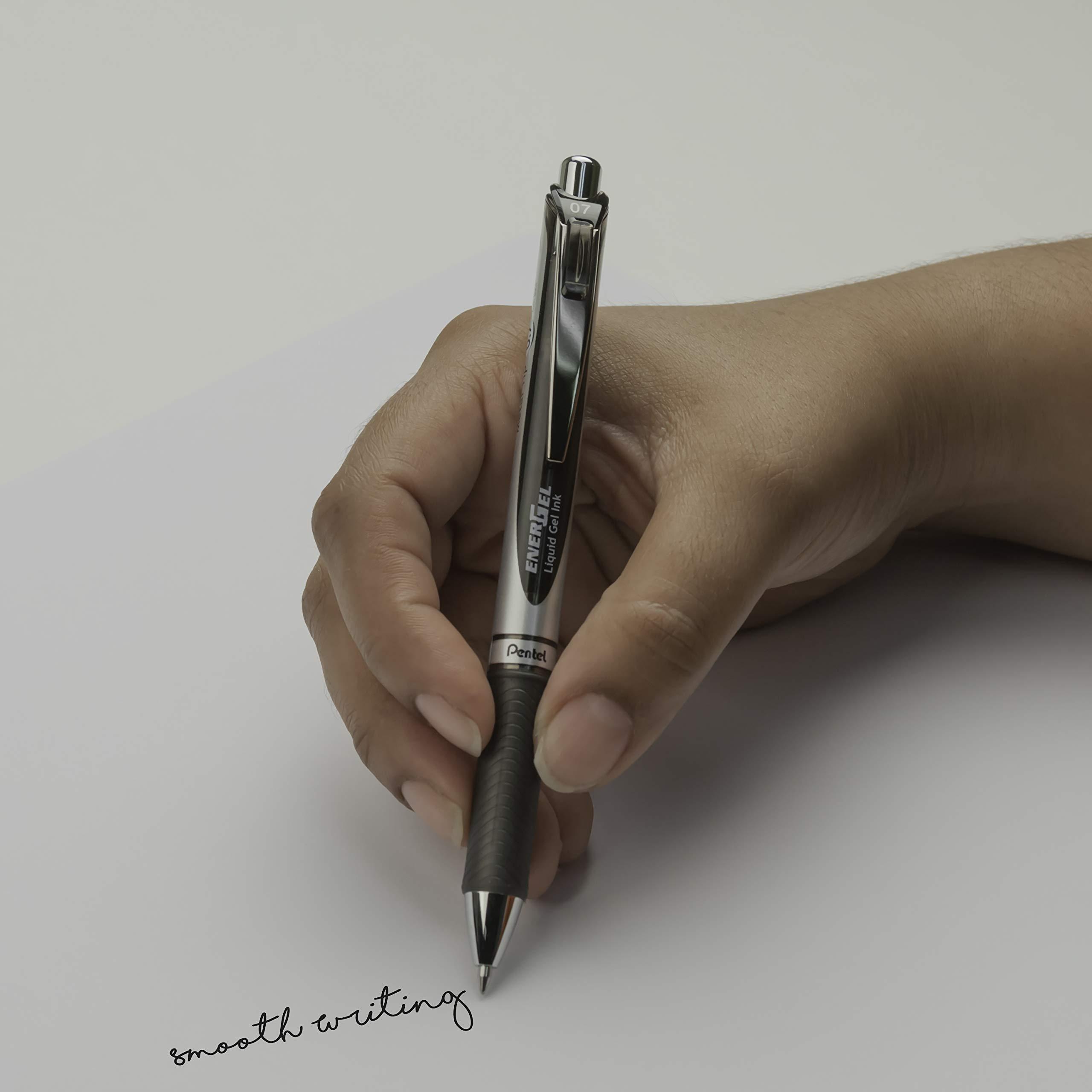 Pentel EnerGel Deluxe RTX Gel Ink Pens, 0.7 Millimeter Metal Tip, Assorted Colors,  6 Pack (BL77BP6M) by Pentel (Image #7)