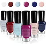 BONTIME Non-Toxic Nail Polish - Easy Peel off & Quick Dry Water Based Nail Polish Set for Women,Teens,Kids(6 Colors,0.27 fl oz)