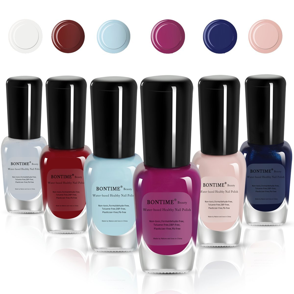 Amazon.com: BONTIME Non-Toxic Nail Polish - Easy Peel off & Quick ...