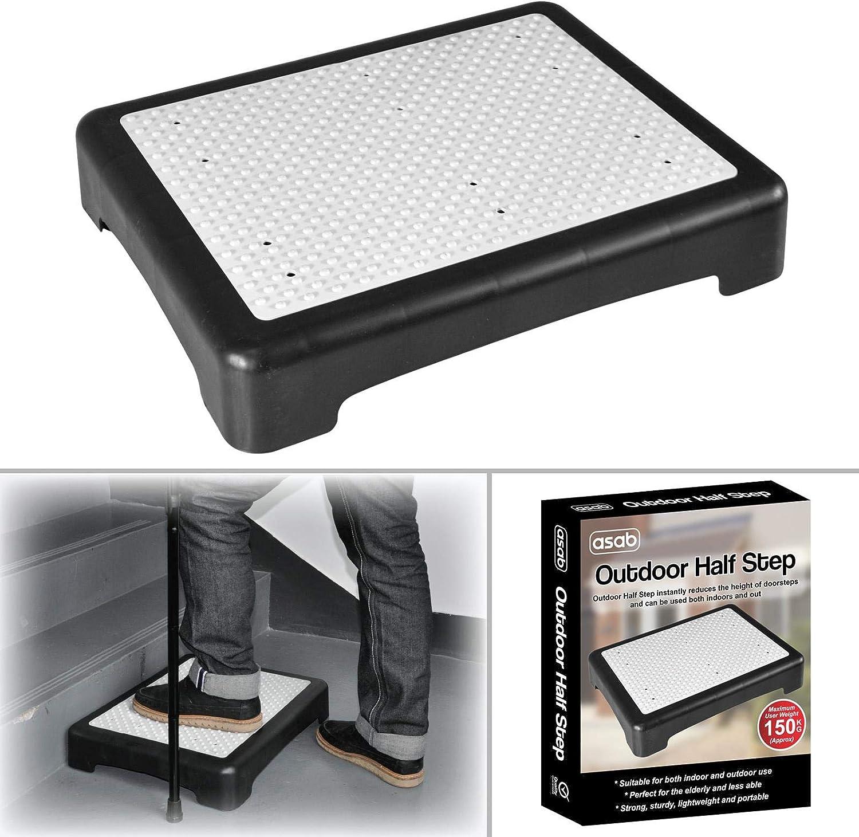 Portable Half Step Stool Mobility Aid For Elderly People Non Slip Plastic Door Door Bathroom Toilet Amazon De Drogerie Korperpflege