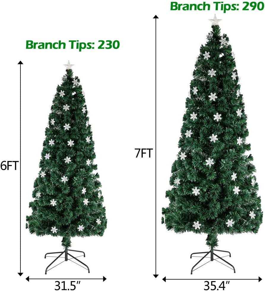 Dongtu Christmas Tree Ship from USA Warehouse 5.5FT 850 Branches