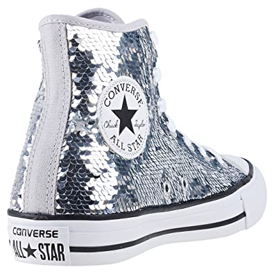 9a498d3a19e Converse Chuck Taylor Allstar Hi Sequin Womens Trainers  Amazon.co ...