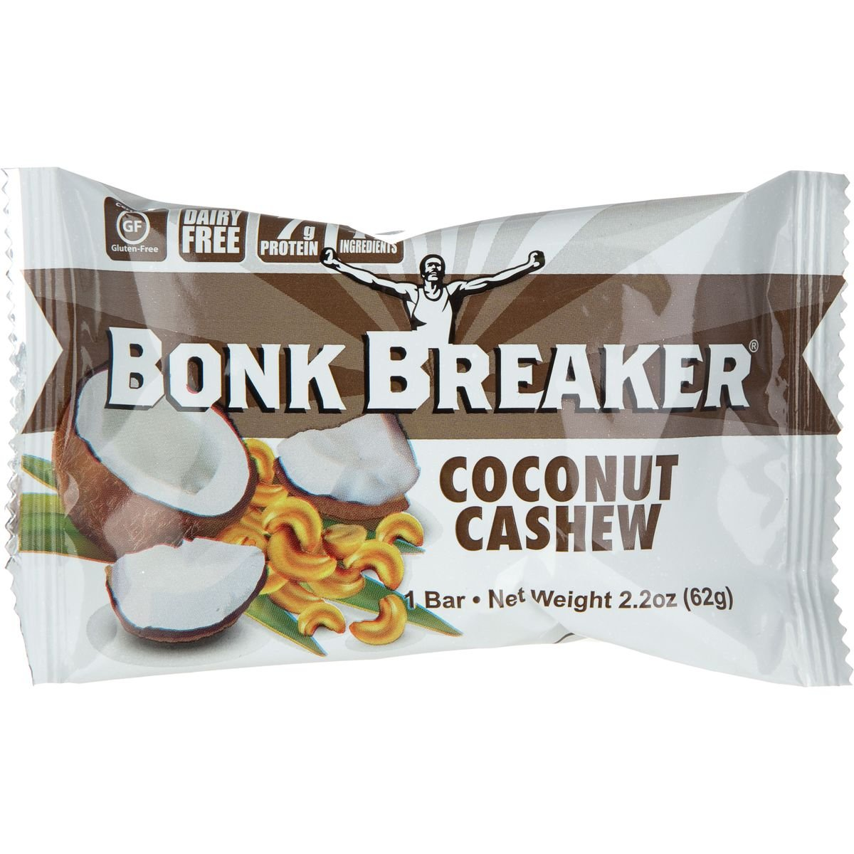 Bonk Breaker Energy Bar - Coconut Cashew - 2.2 Oz - Case Of 12 by Bonk Breaker