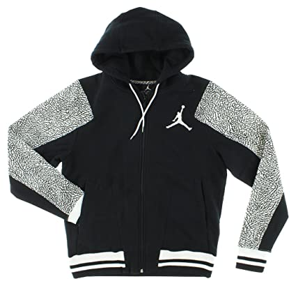 1f802c60e5f5 Amazon.com  Nike Air Jordan Varsity Elephant Full-Zip Mens Hooded ...
