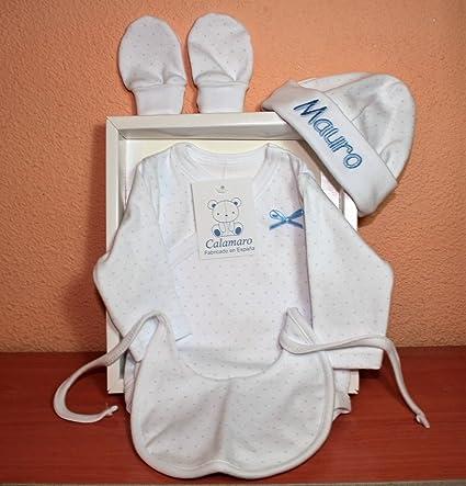 PRIMERAEDAD/Estuche regalo recién nacido compuesto por body manga ...