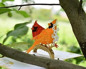 Table Birdcage 3D Up Greeting Card Birthday Wedding Gift Handmade Post UKGRL