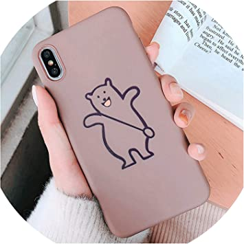 Cartoon Heart TPU Silicone Coque pour iPhone 6 6S 7 8 Plus Xs Max ...
